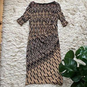 Anne Klein Geometric Ikat Sheath Dress Size 4